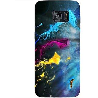 Casotec Kites Design 3D Hard Back Case Cover for Samsung Galaxy S7 Edge