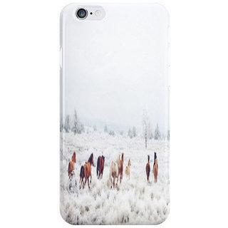 Dreambolic Winter Horses I Phone 6S Back Covers