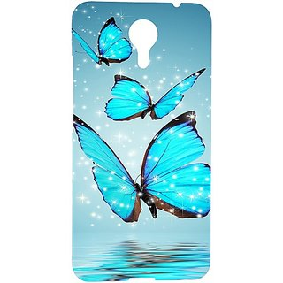 Casotec Flying Butterflies Design 3D Hard Back Case Cover for Micromax Canvas Xpress 2 E313