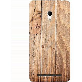 Casotec Wooden Texture Design 3D Hard Back Case Cover for Asus Zenfone 6