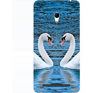 Casotec Pure Swan Design 3D Hard Back Case Cover for Asus Zenfone 6