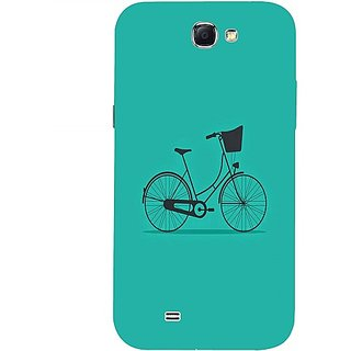 Casotec Lets Cycle Pattern Design 3D Hard Back Case Cover for Samsung Galaxy Note 2 N7100