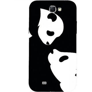 Casotec Panda Drawing Design 3D Hard Back Case Cover for Samsung Galaxy Note 2 N7100