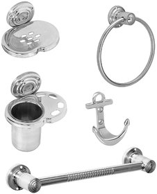 Doyours Stainless Steel 5 Pieces Bathroom Set
