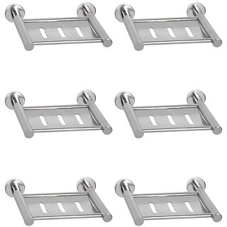 Doyours 6 Pc Stainless Steel Glossy Soap Dishes