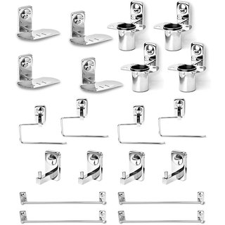 Doyours 4 sets of SS Bathroom Accessories Set