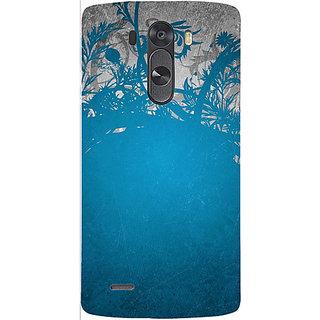 Casotec Blue Floral Pattern Design 3D Hard Back Case Cover for LG G3 Mini