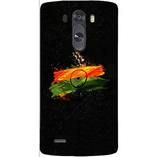 Casotec Indian Flag Design 3D Hard Back Case Cover for LG G3 Mini