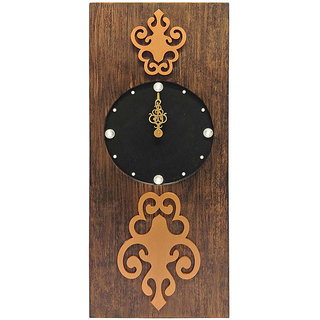 Rectangular Bronze Two Toned Wall Clock