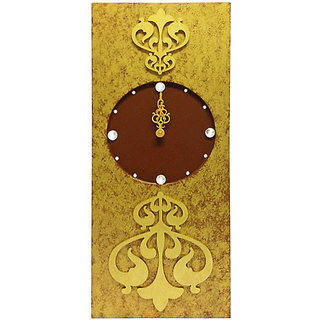 Rectangular Gold Two Toned Wall Clock