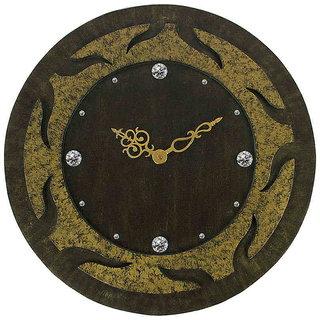 Round Gold Textured Wall Clock