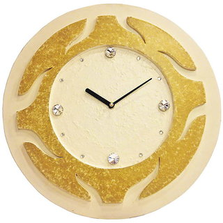 Round White Textured Wall Clock