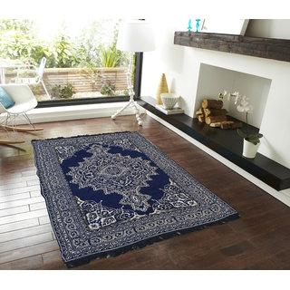 Presto blue colour traditional Chenille Carpet
