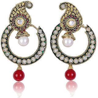 Shining Diva Paisley Drop Earrings