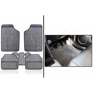 Hi Art - Odourless Car Grey Rubber Floor Mats for Hyundai Santro - Set of 5