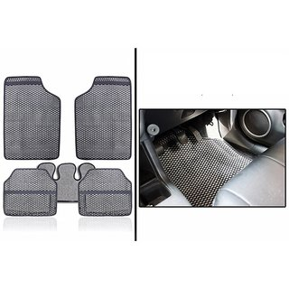 Hi Art - Odourless Car Grey Rubber Floor Mats for Mahindra Xylo 7 Seater - Set of 5