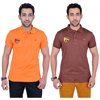 Fabnavitas Mens Casual Polo T-shirt Pack of 2