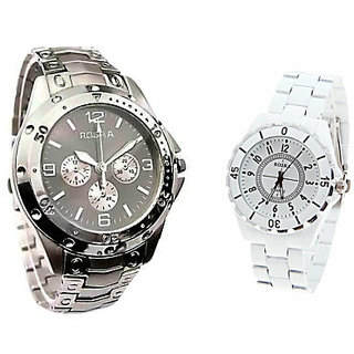 Rosra Stylish Casual Watches For Mens- Combo of 2