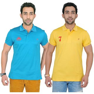 Fabnavitas Mens Casual Cotton Polo T-shirt Pack of 2
