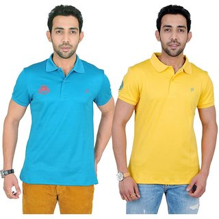 Fabnavitas Polo Neck Slim Fit Polo T-shirt Pack of 2