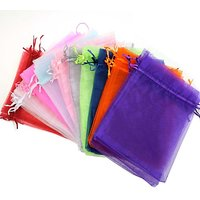 Futaba Random Mix Colors Wedding Gift Bags  Pouches - Pack Of 100