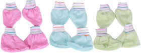 New born baby booties and mittens set ( 0 - 6 months ) ( A pack of 3 )