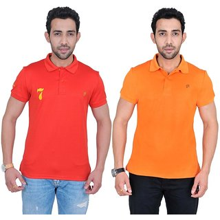 Fabnavitas Mens Slim Fit Polo T-shirt Pack of 2