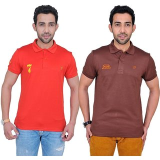 Fabnavitas Mens Cotton Slim Fit Polo T-shirt Pack of 2