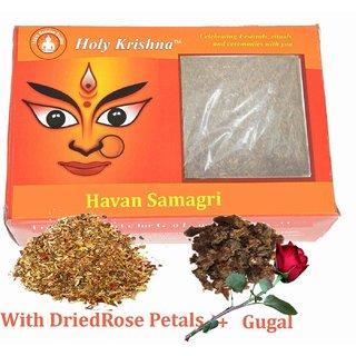 Holy Krishnas - Premium Quality Havan Samagri - 501 Gram - With Rose Petals and Gugal Mix