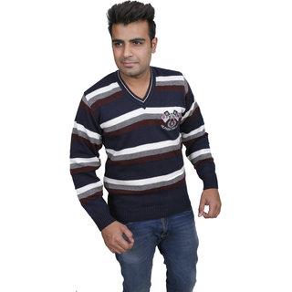 Solid V-Neck Casual MenS Sweater V-NECK13