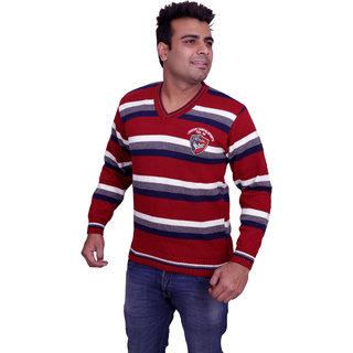 Solid V-Neck Casual MenS Sweater V-NECK1