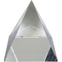 Himalaya Rudraksha Kendra Crystal Pyramid Plain Feng Shui For Prosperity And Positive Energy, Size 2.5 Inch , Transparen