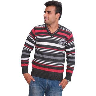 Solid V-Neck Casual MenS Sweater V-NECK36