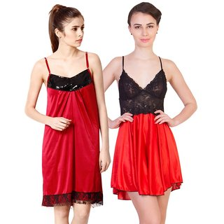 298c35f0ee Buy Cliths Womens Stylish Sexy Nighty-Pack of 2 CL-NTY-1064 Online ...