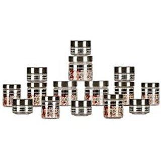 GPET Silver Line Container  Pack of 15   50ml 6 pcs 100ml 3 pcs 200 ml 3 pcs 300 ml 3 pcs