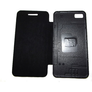 Blackberry Z10 Leather Battery Flip Cover case pouch carry Back Panel Door  Black