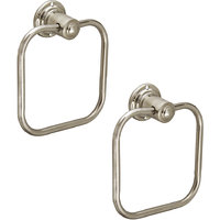 Doyours 2 Pieces Stainless Steel Square Towel Ring