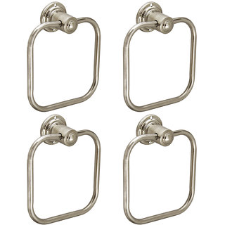 Doyours 4 Pieces Stainless Steel Square Towel Ring
