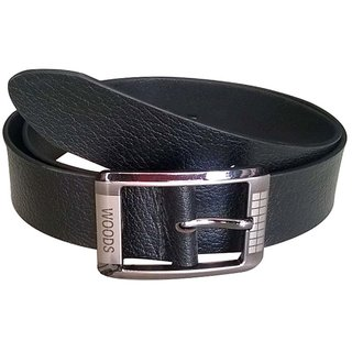 Kushumanjli Collections Black Formal Single Belt For Men