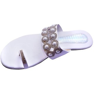 Ladies Footwear White Colour