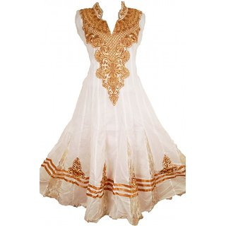 White Anarkali Suite (L)