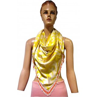 Satin digital printed trangle wrap printed multi scarfs