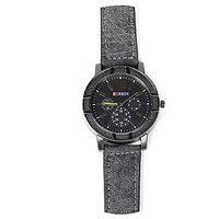 Deimos Curren Black Grey Leather Analog Watch