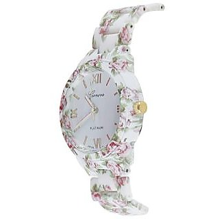 Deimos Geneva Floral Print Pink Smart Analog Watch