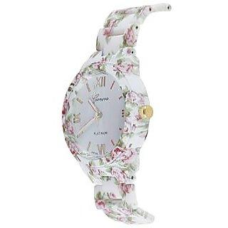 Deimos Geneva Floral Print Pink Smart Analog Watch