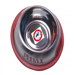 PET CLUB51 STANDARD DOG FOOD BOWL BELLY FEEDER RED- 600ML