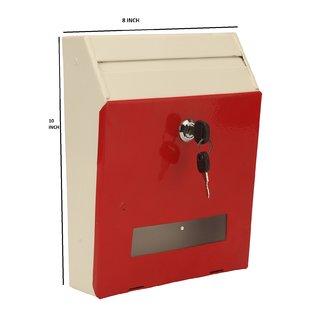 Zahab Spring Metal Letter Box