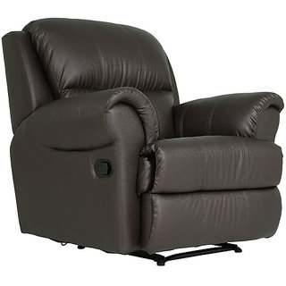Boston One Seater Recliner in Brown Colour