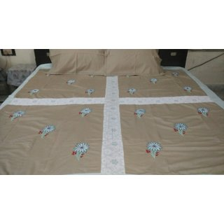 Patchwork Embroidered  Bedsheet