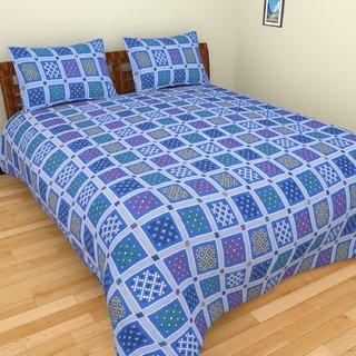 P Home Decor Beautiful Bedsheet with 2 Pillow Covers